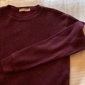 Maroon fuzzy Sweater (it is oversized for XS)